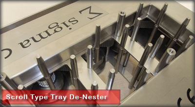 Scroll Type Tray Denester